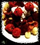 gnocchi met chorizo en geroosterde tomaatjes