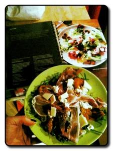 Salade prosciutto en vijg