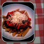 Pasta tomatensaus en kaas