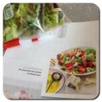 zomersalade met gorgonzola en aardbei