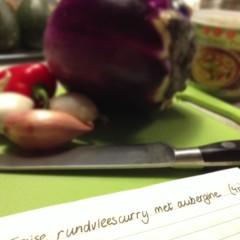Rundvleescurry met aubergine