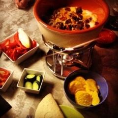 Mexicaanse kaasfondue met chorizo