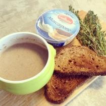 champignonsoep met toast