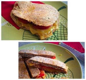 Naanbrood met kaas en tomaat