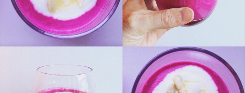 smoothie van bietjes en yoghurt